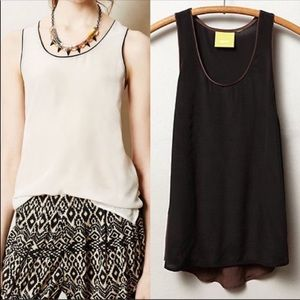 Anthropology Maeve Silk Color Block Tank. Size 8
